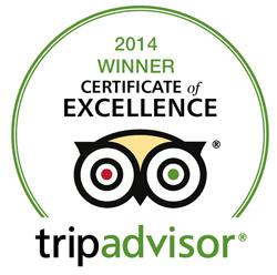 tripadvisor 2014 Winner certificate
