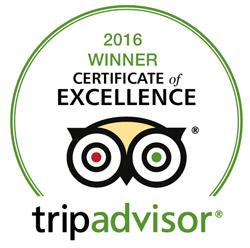 tripadvisor 2016 Winner certificate